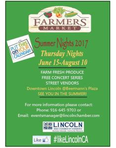 Lincoln Farmers Market. Summer Nights 2017