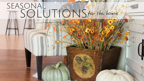 Staging your home with Fall floral arrangements